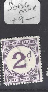 BECHUANALAND   (P2110B)  POSTAGE DUE  2D  SG D6      MNH
