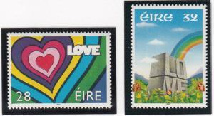 Ireland 1992 MNH Scott #852-#853 Set of 2 Rainbow, Love