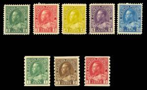 Canada 1911-25 ADMIRALS GROUP MINT #107 109 110 111 117 125 129 130 LH or HR ...