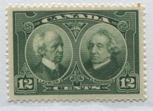 Canada 1927 12 cents green unmounted mint NH