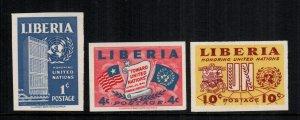 Liberia  338 - 340 MH cat $ 5.00 imperf