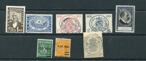 Finland 1931 MH Used Complete year( -3 stamps) Mi 162-3,167-9,170-2 7147