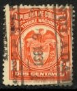 COLOMBIA c1930 2c Red General Duty Revenue VFU