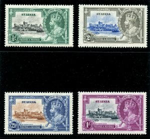 St Lucia 1935 KGV Silver Jubilee complete set MLH. SG 109-112. Sc 91-94.