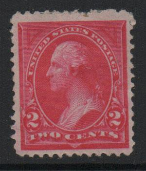 US Stamps 1894 Washington  Sc250 2c Carmine Stamp MH F