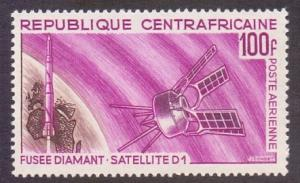 Central African Republic 1966 MNH AIR satellite