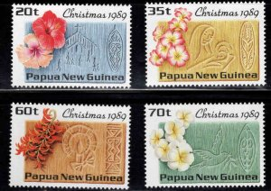 Papua New Guinea MNH 725-8 Christmas Flowers 1989