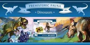 Maldives MNH S/S Prehistoric Fauna Dinosaurs 2015