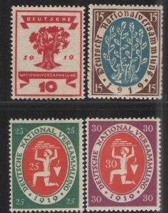 Germany - Weimar Era 1919-20 Sc# 105-108 MH/NG VG  Rebuilding Germany