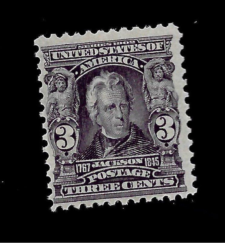 US 1903 Sc# 302 3 c  Jackson Mint NH - Vivid Color - Great Perfs