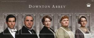 Palau 2014 MNH Downton Abbey Carson Thomas Barrow 5v M/S I TV Series Stamps