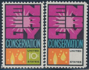#1547c ENERGY CONSERVATION GREEN OMITTED MAJOR ERROR XF NH CV $500 BU3842 JN