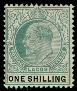 NIGERIA - Lagos SG60, 1s green & black, NH MINT. Cat £20.