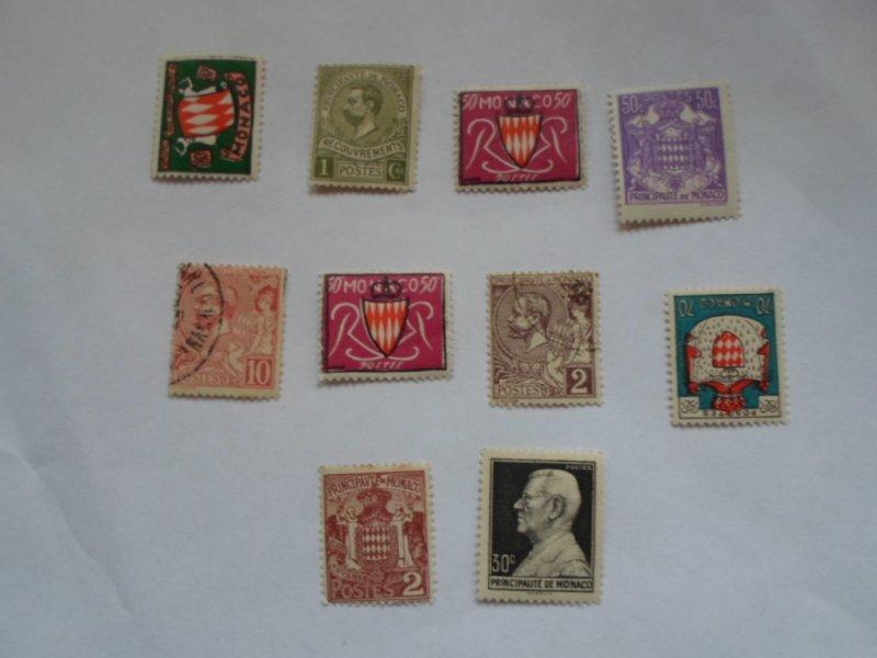 MONACO STAMPS. LOT OF 10 STAMPS # 5 LOT 3