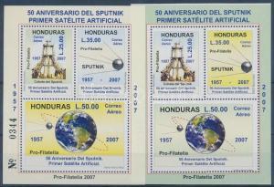 Honduras stamp Space traveling 2 blocks MNH 2007 Mi 92-93 WS140506