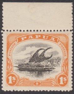 1909 Papua Lakatoi 1/- Small Papua - Wmk sideways - Perf 12½ OG MINT