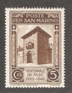San Marino 1943,With Out Overprint 5c,Sc 215,VF Mint Hinged*