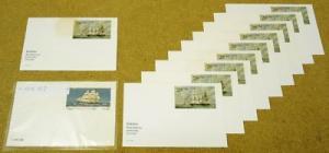 Set of USA Stamp Postcard 11qty