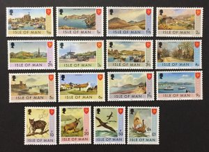 Isle of Man 1973 #12-27, Bailiwick Issues, MNH.