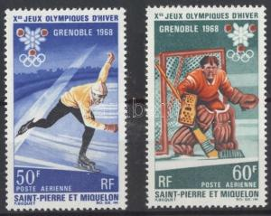 St. Pierre and Miquelon stamp Winter Olympics set MNH 1968 Mi 423-424 WS121783