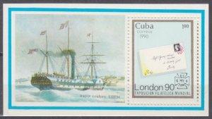 1990 Cuba 3381/B120 Ships with sails 3,50 €