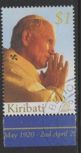 KIRIBATI SG742 2005 POPE JOHN PAUL II COMMEMORATION FINE USED