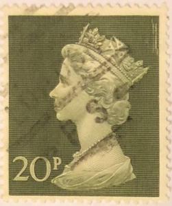 1970 Queenn Elizabeth II 20 p