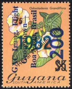 Guyana 1982 200c on 75c on $5 Odontadema Grandiflora with ovpt. MH