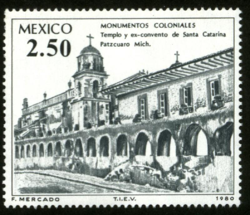 MEXICO 1212, Colonial Buildings and Monuments MINT, NH. F-VF.
