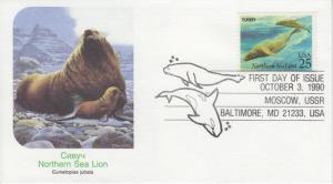1990 Northern Sea Lion  (Scott 2509) Fleetwood FDC