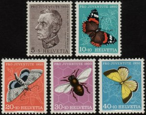 1950 Switzerland 550-54 Insects 15,00 €