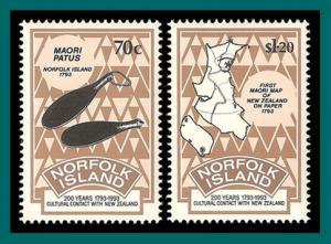 Norfolk Island 1993 Contact with NZ, MNH #544-545,SG561-SG562