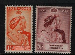 Northern Rhodesia #48 - #49 Very Fine Never Hinged Set