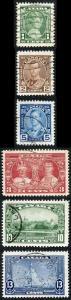 Canada 1935 Silver Jubilee Fine used set of 6