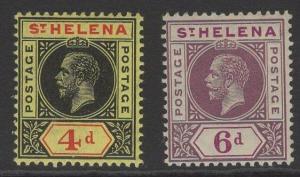 ST.HELENA SG85/6 1913 POSTAGE POSTAGE PAIR MTD MINT