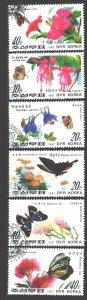 North Korea. 1987. 2825-30. Butterflies. USED.