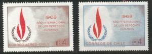 Chile Scott 382, c297 MNH** Human Rights stamps 1968 CV$0.85