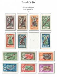 French India - 1941 MH - 1929 Issues OverPrinted FRANCE LIBRE