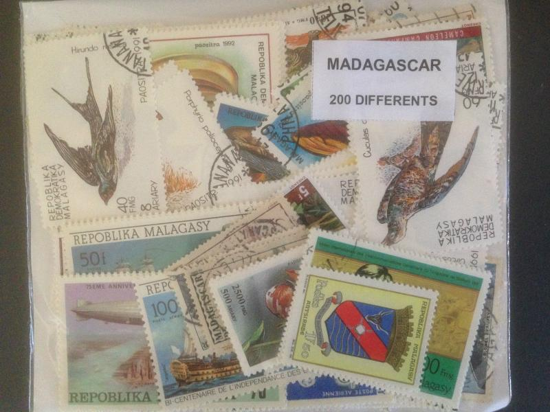 1000 Different Malagasy Rebublic Stamp Collection