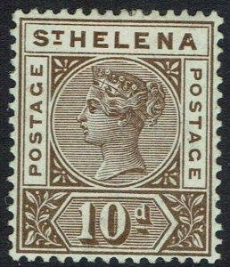 ST HELENA 1890 QV KEY TYPE 10D