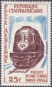 Central African Republic # C14 mnh ~ 25fr Locomotive