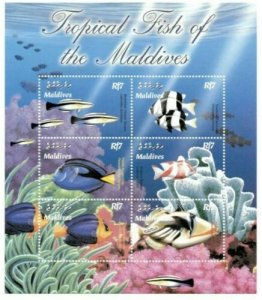 Maldives MNH S/S Tropical Fish 6 Stamps