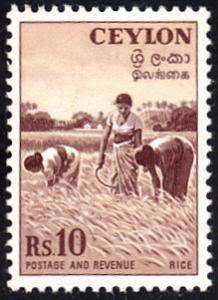 Ceylon # 328 hinged ~ 10r Harvesting Rice