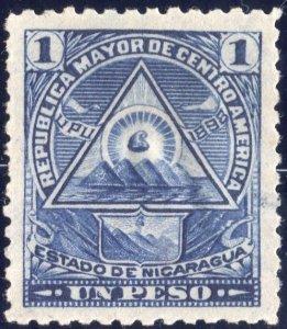 Nicaragua 1898 5p vermillion Mint SC O128