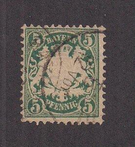 GERMAN STATES - BAVARIA SC# 39   F/U  1876