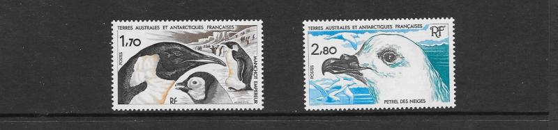 BIRDS - FRENCH SOUTHERN ANTAARCTIC TERRITORY #114-15  MNH