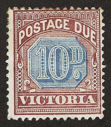 Victoria Postage Stamp Catalog No J7 Mint LH