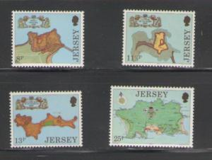 Jersey Sc 222-5 1980  Fortress stamps mint NH