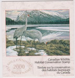 Canada - 2000 Wildlife Habitat Conservation Booklet  USC#FWH16 Cat.$30