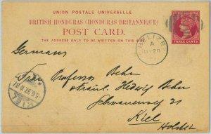 BK0412 - British Honduras -  POSTAL HISTORY - STATIONERY  CARD  to GERMANY  1897